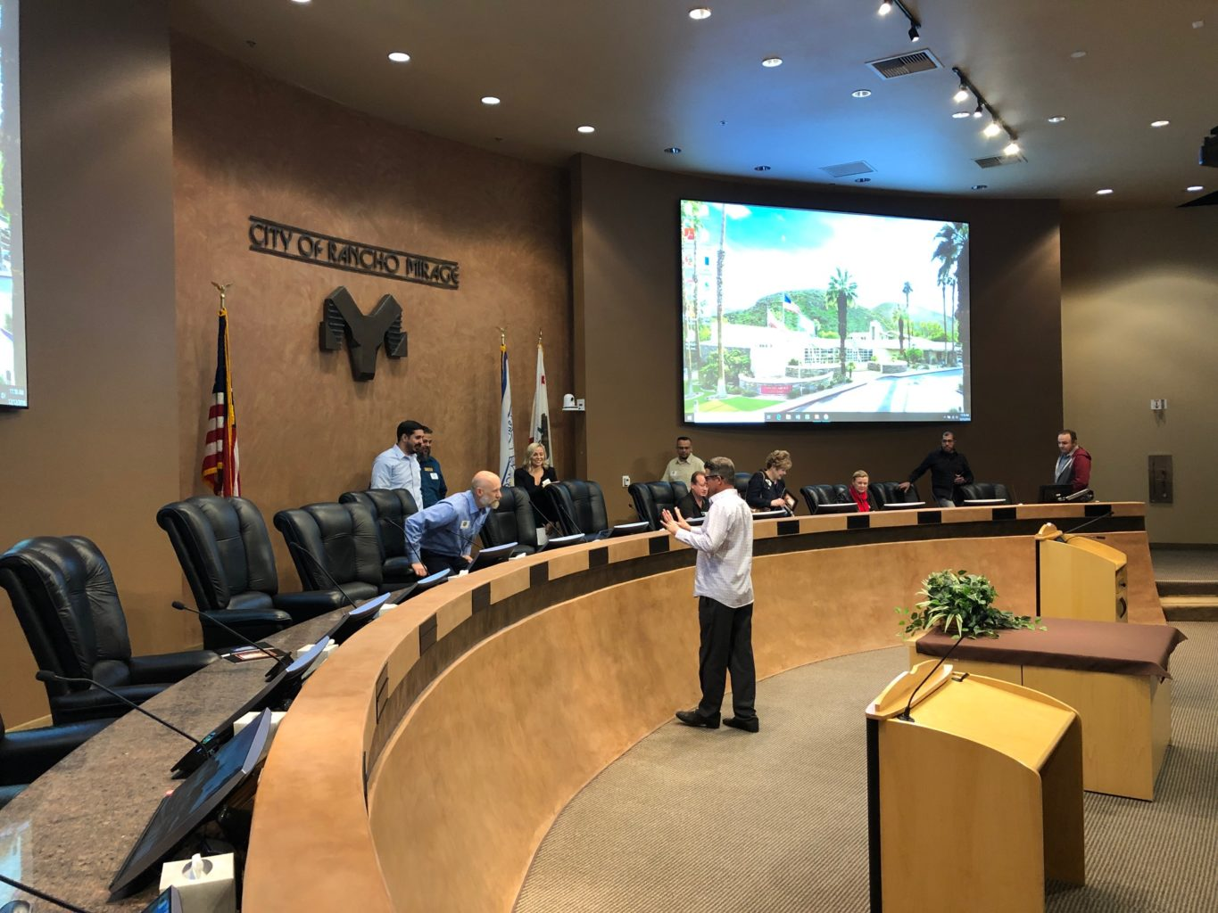 Western Audio Visual, Western AV, WAV, City of Rancho Mirage, Council Chamber