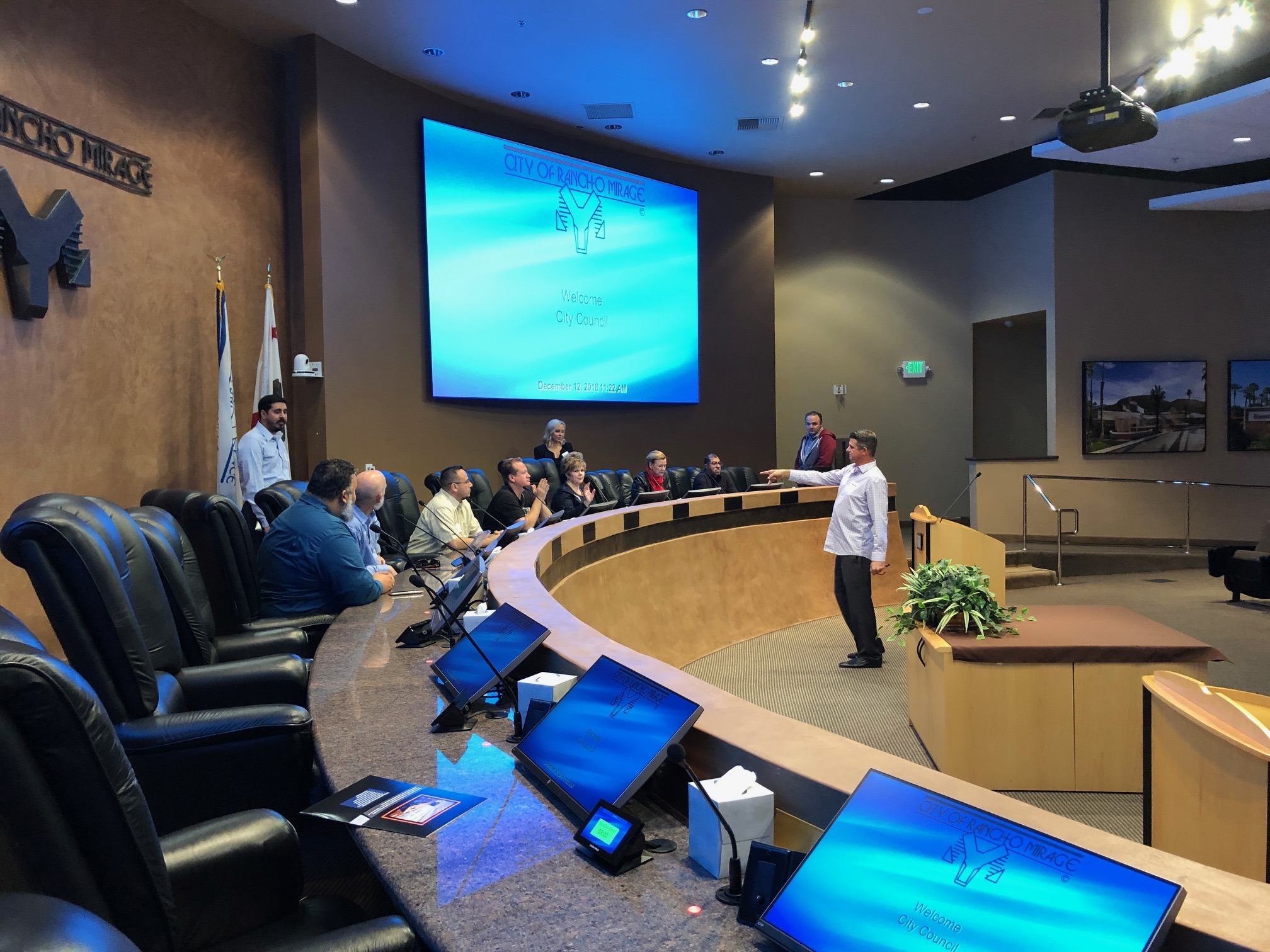 Western Audio Visual Technology Showcase: Rancho Mirage Council Chamber